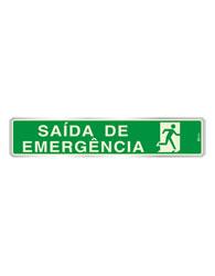 Placa de Aviso Saída de Emergência Fotoluminescente - F05001 5x25 - Indika