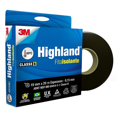 Fita Isolante Highland 19x20m - 3m