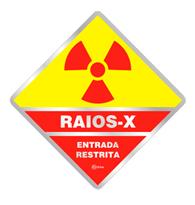 Placa de Aviso Raios X 16x16cm C16058 Indika