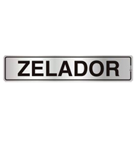 Placa de Aviso Zelador 5x25cm - C05085 - Indika