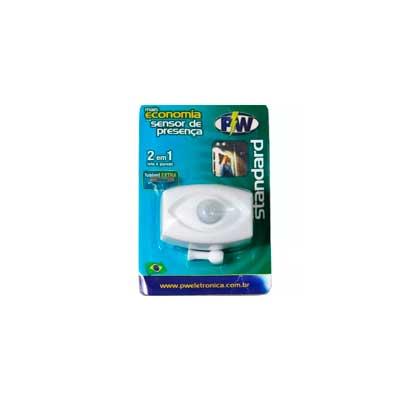 Sensor de Presença Articulado Com Fotocélula Teto/parede Bivolt - 895 - Pw Eletrônica