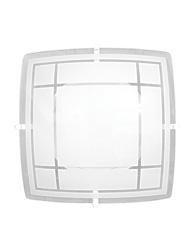 Plafon Quadrado Branco Luxo 300mm Para 2 Lampadas E-27 - 476 Bc - Emalustres