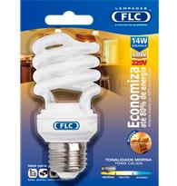 Lâmpada Eletrônica Espiral 14w X 220v Branca Quente (luz Amarela) E27 01072110  Flc