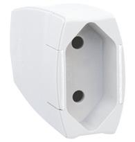 Plug Femea Prolongado Monobloco 2p Pb (padrão Brasileiro) 10a 250v Branco Saída Axial - 615803- Pial Legrand