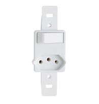 Conjunto Com 1 Interruptor Paralelo + 1 Tomada 2p + T Pb 10a Sem Placa Branco - Prm6200b - Schneider - Prime Toc