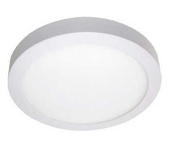 Painel Led de Sobrepor Redondo 6w Bivolt 3000k Luz Branca Amarelada 420 Lumens 9467 Gaya