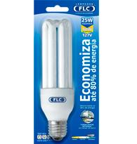Lâmpada Eletrônica Tripla 25w X 127v  Luz Branca Fria  E27 01020350 Flc