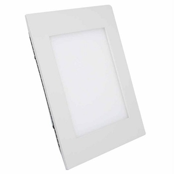 Painel de Led de Embutir Quadrado 6w Bivolt 6000k Luz Branca Fria 420 Lumens 9454 Gaya