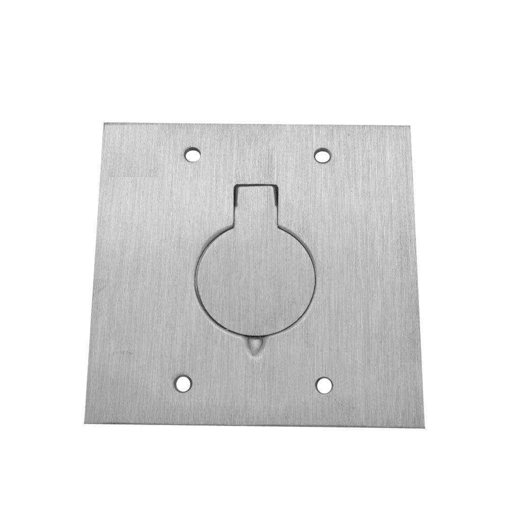 Placa para piso 4x4 para uma tomada universal inox pi 44 for Placas para pared