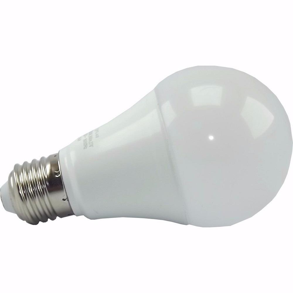 L mpada led bulbo 12w luz amarela galaxy santil for Lampada led