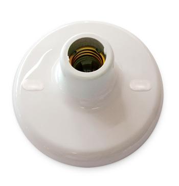 Plafon Com Soquete Porcelana E27 Branco - 0113/00/04 - Blumenau