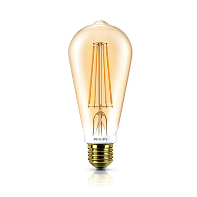 Lâmpada de Filamento Led Bulbo 7w 220v E27 2700k Gold 630lm - Philips