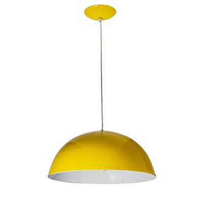 Pendente Pretoria Amarelo 1 Lâmpada 23w - Kin Ligth