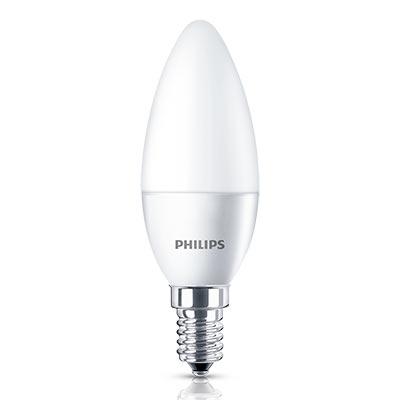 Lâmpada Led Vela Lisa 3,5w E14/e27 Luz Branca Philips