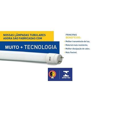 Lâmpada Tubular Led 18w 6500k Branca Fria C-tub18wglass- B.bauer