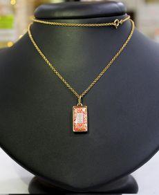 Amuleto de Proteção Pingente Dourado (Vermelho)