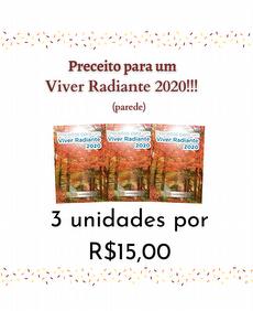 3 Preceitos para um viver Radiante 2020 - parede (21x31cm)