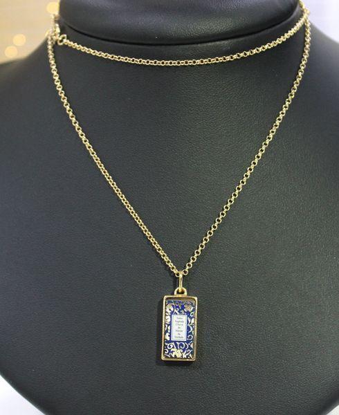 Amuleto de Proteção Pingente Dourado (Azul)