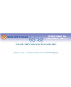 Registro Espiritual - Anjinhos