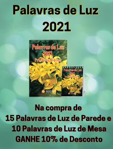 KIT 25 PALAVRAS DE LUZ 2021 - 10 MESA E 15 PAREDE