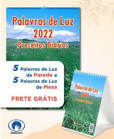 KIT 10 PALAVRAS DE LUZ 2022 (Preceitos Diários) - 5 PAREDE + 5 MESA