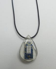 Pingente Resina Gota (Azul)