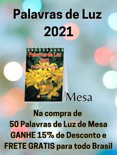KIT 50 PALAVRAS DE LUZ 2021 - MESA