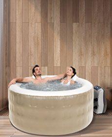 Spa Hot Hydro Pratic Sodramar - 930 litros,  com hidromassagem, aquecimento e lava pés - Piscina, Spa, Ofurô