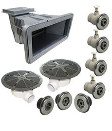 Kit Dispositivos Standard Prata/Inox Para piscinas de vinil 2