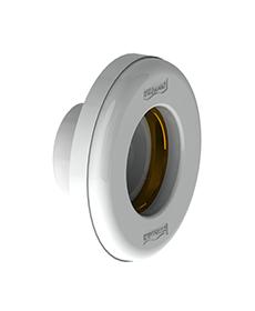 """Dispositivo de Aspiração Branco em ABS Pratic de 1.1/2"""" com rosca latão para piscina de alvenaria (Tubo Ø 50 mm)"""