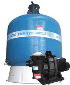 Filtro FVP-120 com areia e Bomba 3cv BMS-300 Mono p/ piscinas de até 352 mil litros