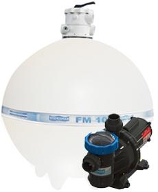 Filtro FM-100 e Bomba 3cv BM-300 Mono p/ piscinas de até 250 mil litros