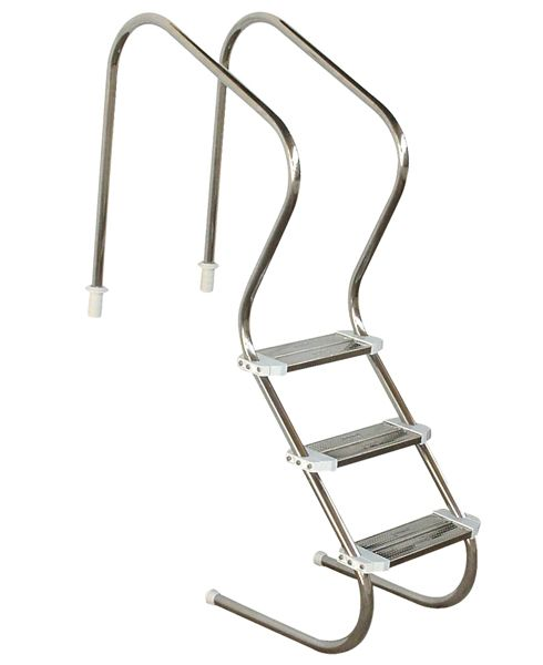 Escada em aço inox Confort 2´´ com 3 degraus duplos em aço inox