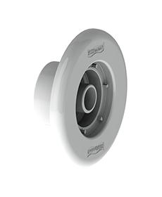 """Dispositivo de Retorno Branco em ABS Pratic de 1.1/2"""" para piscina de alvenaria (Tubo Ø 50 mm)"""