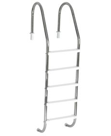Escada Tradicional 1 1/2´´ em Aço Inox 5 Degraus Anatômicos em ABS