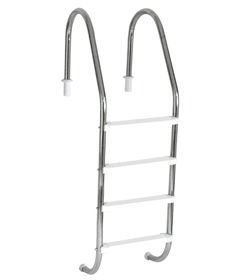 Escada Tradicional 2´´ em Aço Inox 4 Degraus Anatômicos em ABS