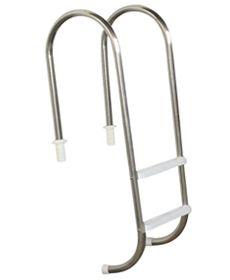 Escada Marinheiro 1 1/2´´ em Aço Inox 2 Degraus Anatômicos em ABS