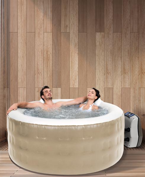 Spa Infável Hot Hydro Pratic Sodramar - 700 litros,  com hidromassagem, aquecimento e lava pés - Piscina, Spa, Ofurô