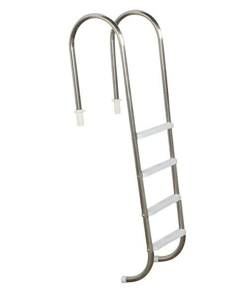 Escada Marinheiro 1 1/2´´ em Aço Inox 4 Degraus Anatômicos em ABS