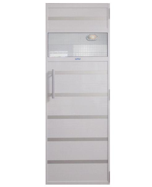 Porta de Alumínio Branco 0,70x1,99 m com contra marco  para Sauna a vapor