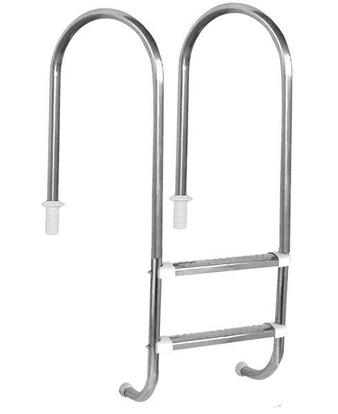 Escada Marinheiro 1 1/2´´ em Aço Inox 2 Degraus Anatômicos em Inox