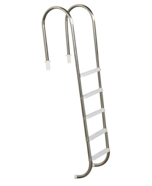 Escada Marinheiro 1 1/2´´ em Aço Inox 5 Degraus Anatômicos em ABS