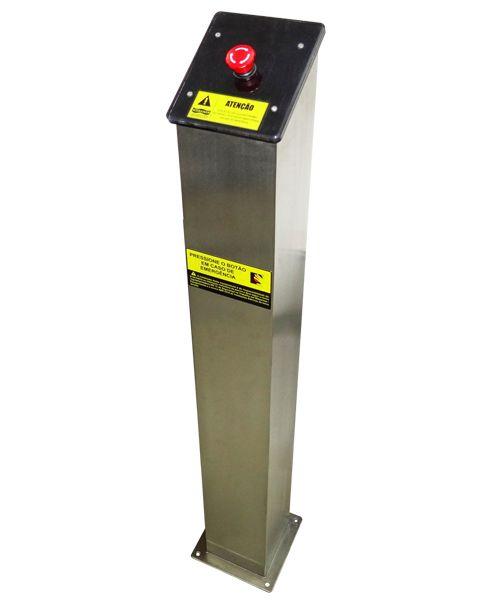 Torre em aço inox com Botão de emergência