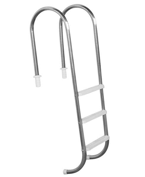 Escada Marinheiro 1 1/2´´ em Aço Inox 3 Degraus Anatômicos em ABS