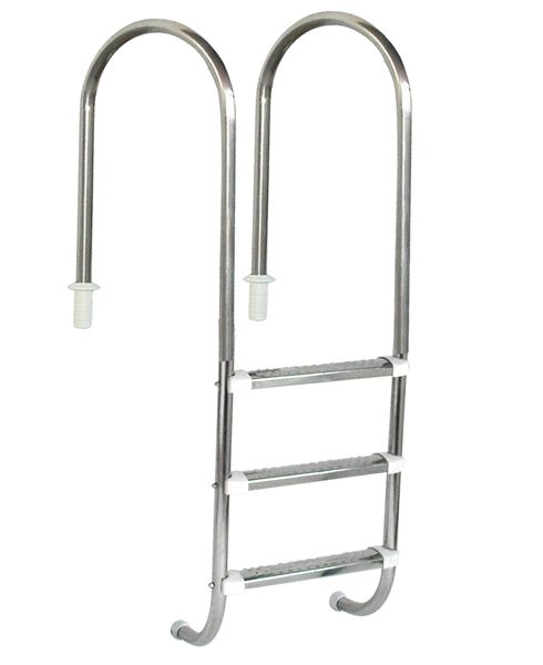 Escada Marinheiro 1 1/2´´ em Aço Inox 3 Degraus Anatômicos em Inox