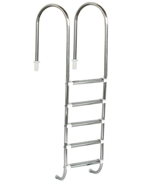 Escada Marinheiro 1 1/2´´ em Aço Inox 5 Degraus Anatômicos em Inox