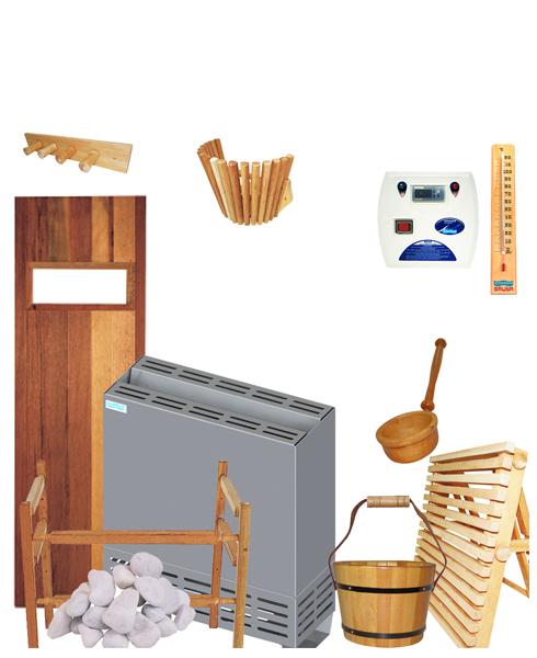 Kit Completo para Sauna Seca de até 10m³