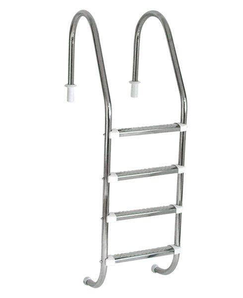 Escada Tradicional 1 1/2´´ em Aço Inox 4 Degraus Anatômicos em Inox