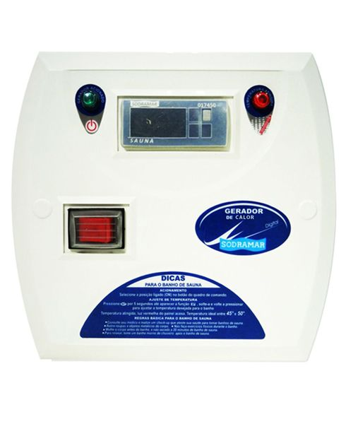 Comando Digital para Sauna Seca