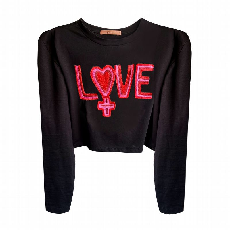 TEE CROPPED LOVE
